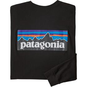 Patagonia P-6 Logo Long Sleeved Responsibili Tee Men black